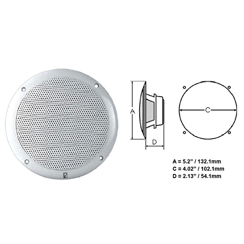 MA4054 – 4″ 2 Way Coax – Integral Grill Performance Speaker